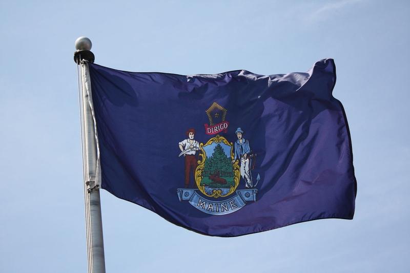 Original source: https://upload.wikimedia.org/wikipedia/commons/thumb/d/d5/Flag-of-Maine.jpg/1280px-Flag-of-Maine.jpg