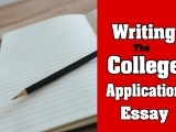 Writing the College Application Essay
