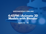 4:45PM | Animate 3D Models with Blender