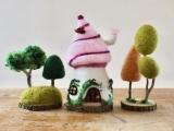 Needle Felt Fairy Houses