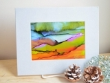Abstract Alcohol Ink on Yupo Paper!