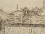 Drawing Rooftops & Corners with Black & White & Colored Pencil AM
