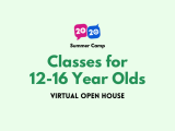 Virtual Open House: Classes for 12-16 Year Olds