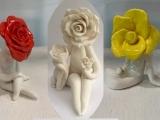"""E-06-11 """"Flower Ladies"""" Ceramic"""