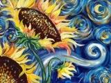 "Art in an Evening: Vincent Van Gogh ""Mashup/Sunflowers"" Nov. 13 Messalonskee F19"