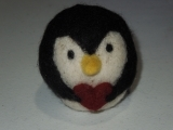 Introduction to Needle Felting-Heart in Hand Penguin