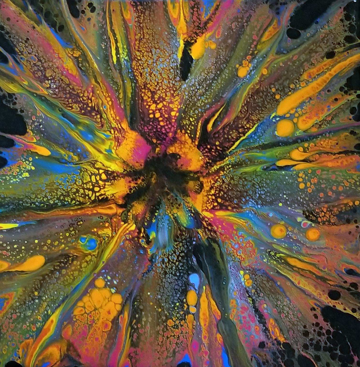 Acrylic Pour II - Swipes