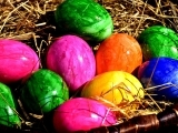 Dyeing Colorful Easter Eggs