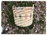 Peck Basket with Wooden Base