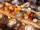 Thanksgiving Appetizers and Table Setting