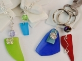 Drilled Sea Glass Necklace