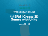 4:45PM | Create 3D Games with Unity