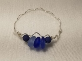 Silver Bracelet Workshop with Sea Glass & Essential Oil Beads