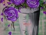 Painting with Jackie - Purple Hydrangeas