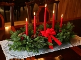 Holiday Decor For the Home with Fresh Flowers and Greenery