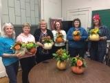 Pumpkin Flower Fall Center Piece - Fall 2018