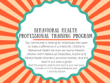 Behavioral Health Professional Training