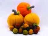 Dry Needle Felting:  Pumpkins and Acorns