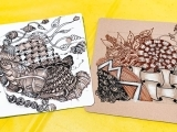Zentangle- Working with Tan Tiles