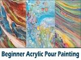 Beginner Acrylic Pour 10/5