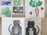 Linoleum Print Patches