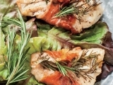Salmon and Herbs Wrapped in Prosciutto