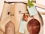 Riveted Luggage Tags and Purse Charms