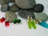 Art Night Out - Wire-Wrapped Sea Glass Earrings
