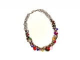 Crocheted Wire & Bead Necklace