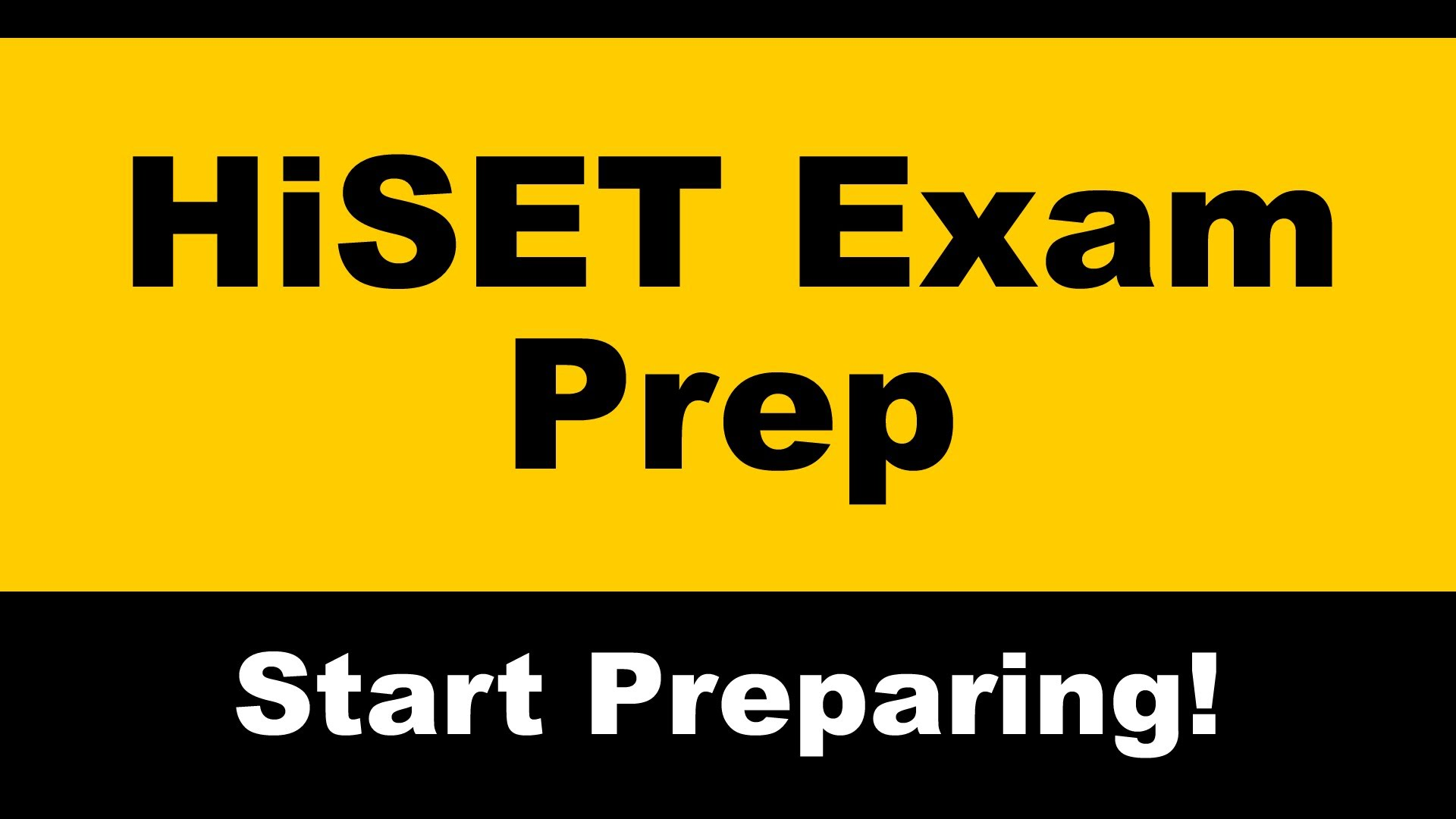 High School Equivalency Test (HiSET) Daytime Preparation Courses and Exams