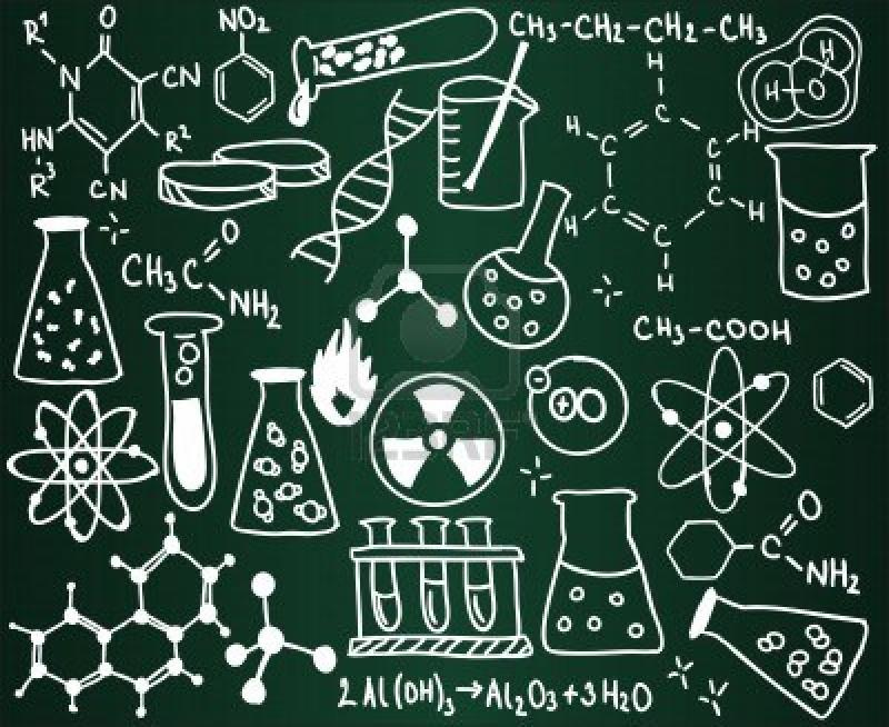 Original source: http://michaelkonik.com/wp-content/uploads/2004/04/chemistry-icons-and-formulas-on-the-school-board.jpg