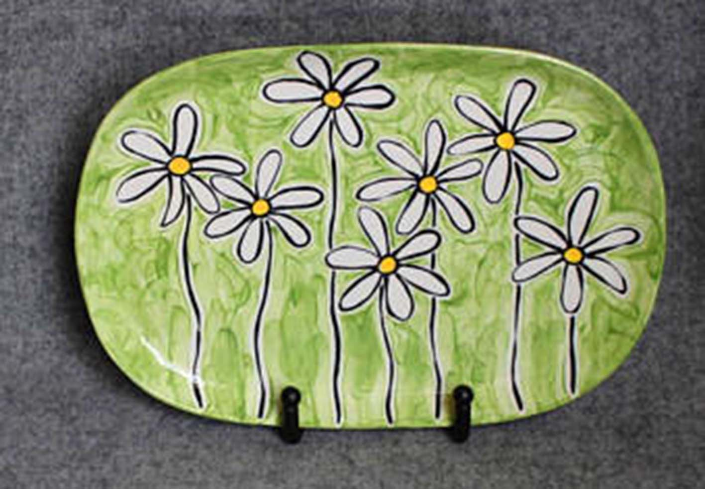 Pottery Paint Night - Spring Flower Plates