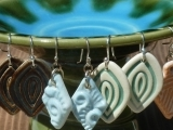 Ceramic Buttons and Earrings