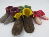 Wet-Felting Wool Slippers