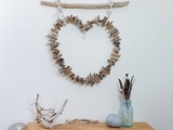 Maine Driftwood Heart Wall Hanging