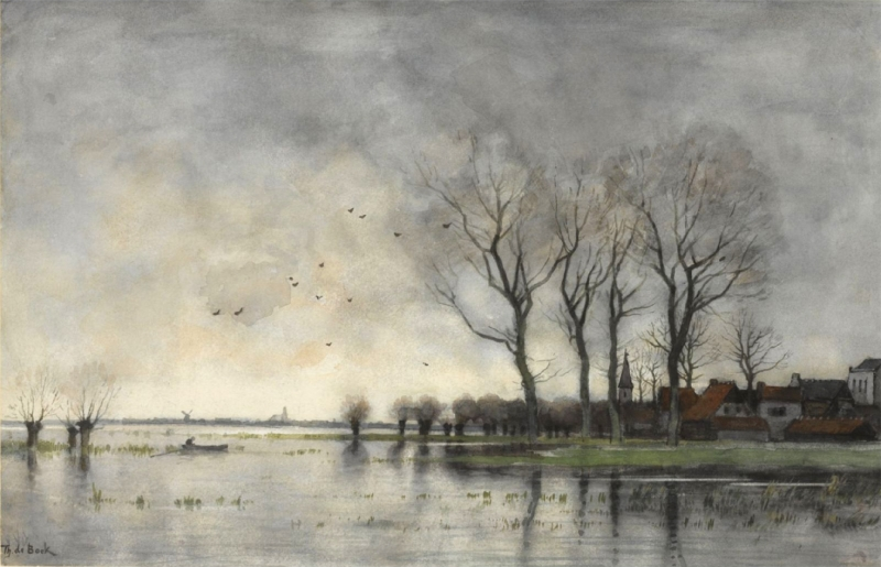 Original source: https://upload.wikimedia.org/wikipedia/commons/2/24/A_town_on_the_river_Vecht_by_Theophile_de_Bock_%281851-1904%29.jpg