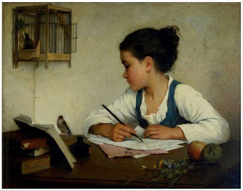 Original source: https://upload.wikimedia.org/wikipedia/commons/thumb/f/f0/Browne%2C_Henriette_-_A_Girl_Writing%3B_The_Pet_Goldfinch_-_Google_Art_Project.jpg/1280px-Browne%2C_Henriette_-_A_Girl_Writing%3B_The_Pet_Goldfinch_-_Google_Art_Project.jpg