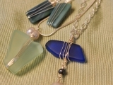 Art Night Out - Wire Bound Sea Glass Jewelry