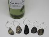 Drilled Beach Stone: Wine Jewelry