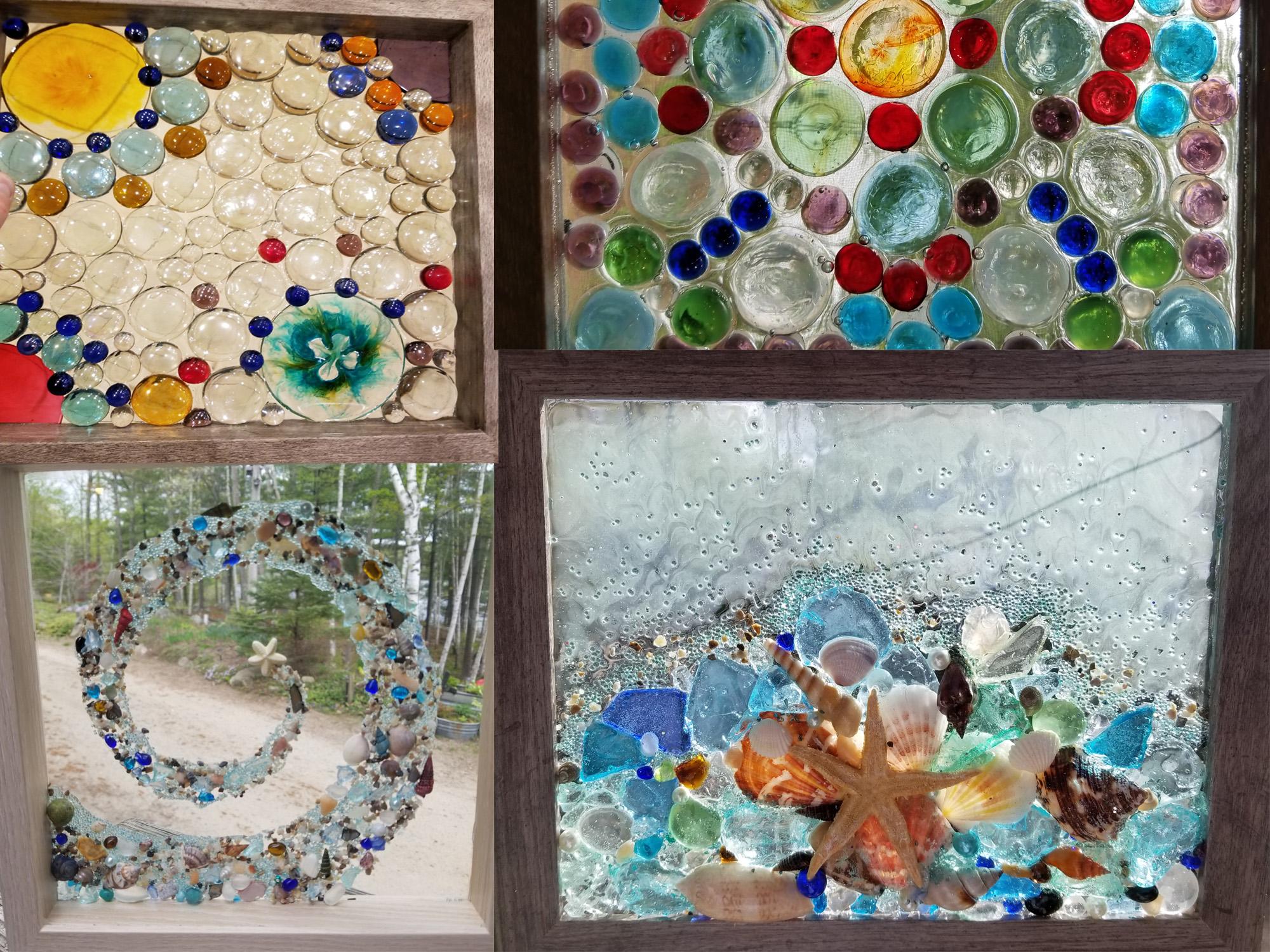 Framed Mosaic Suncatcher - Spring 2019