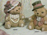Ceramics - Mr. and Mrs. Fancy Bears