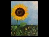 "EW-08-05 Acrylic Painting ""Beginner's Sunflower Field"""