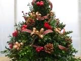 Decorated Boxwood Tree