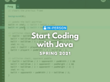 [In Person] Start Coding with Java