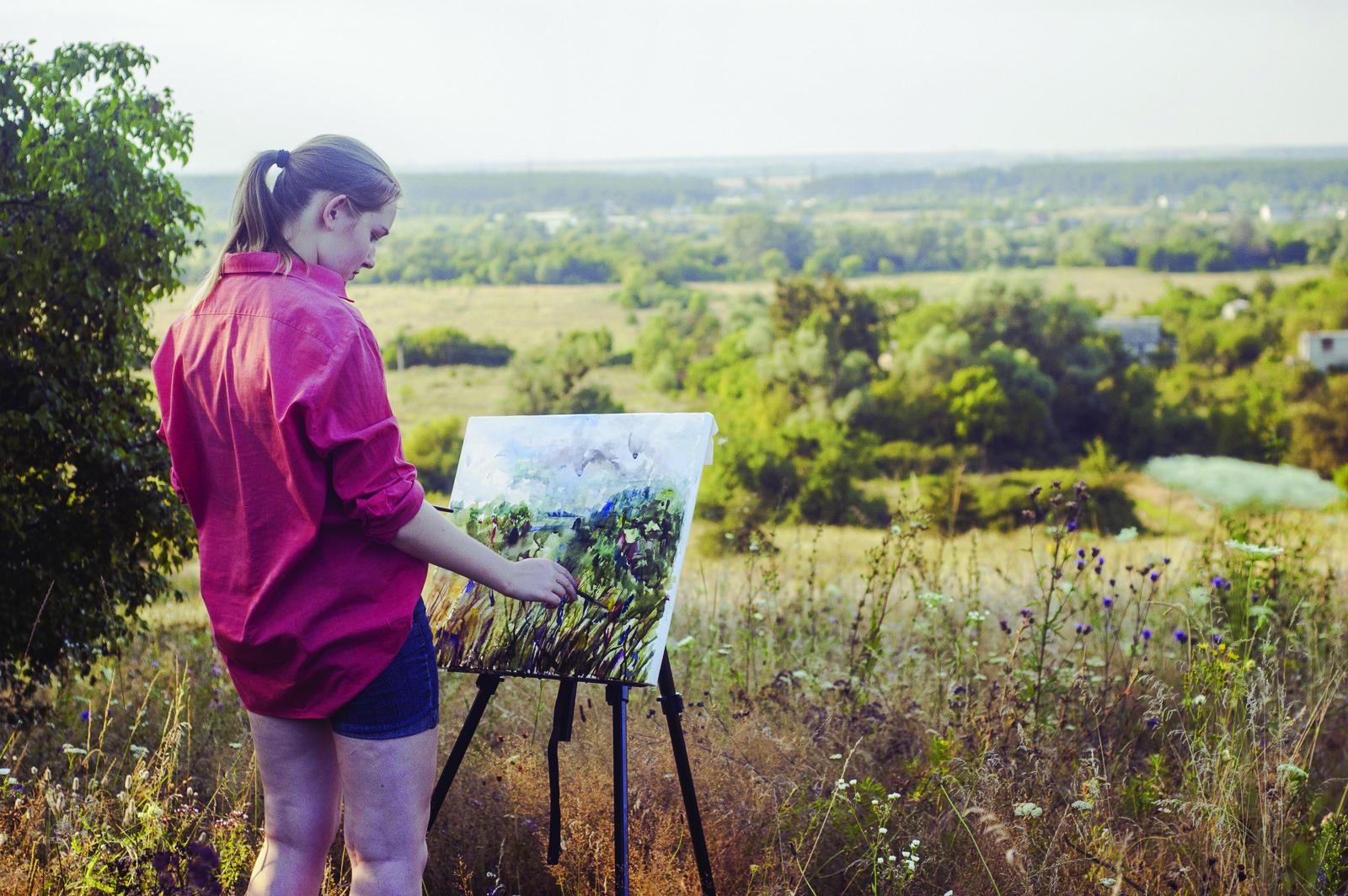 Maine Plein Air Oil Painting