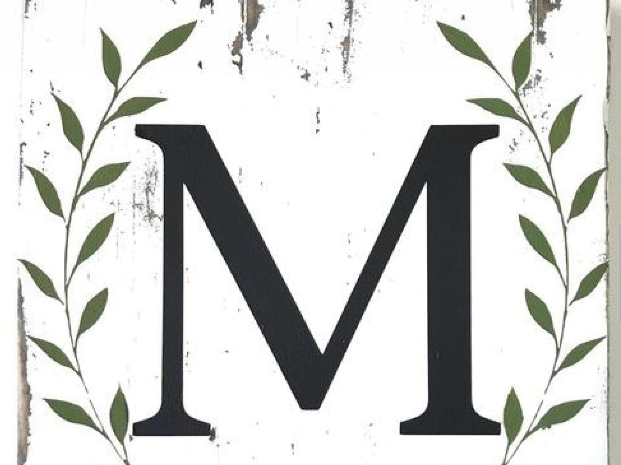 Monogram Laurel Wreath Plaque