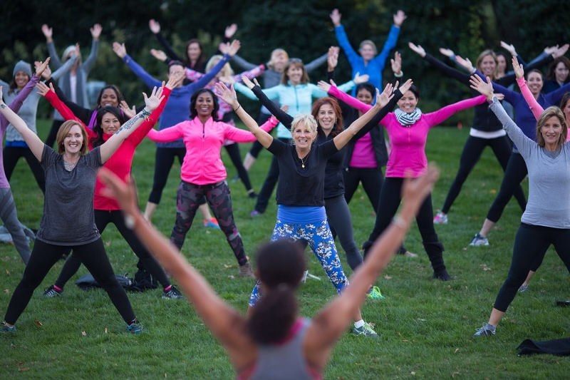 Original source: https://upload.wikimedia.org/wikipedia/commons/2/23/Jill_Biden_hosting_a_barre_class_at_Number_One_Observatory_Circle_in_2016.jpg