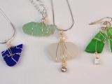Wirebound Sea Glass Jewelry