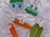 Art Night Out - Drilled Sea Glass Necklace & Key Chain