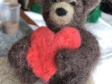 Needle Felting - Bear With Heart